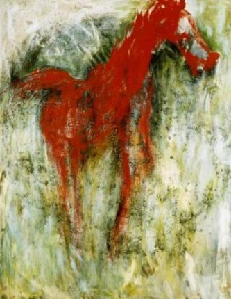 Grand cheval rouge